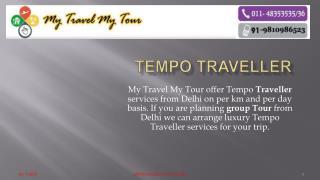 Tempo Traveller services