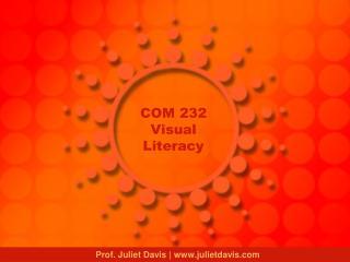 COM 232 Visual Literacy