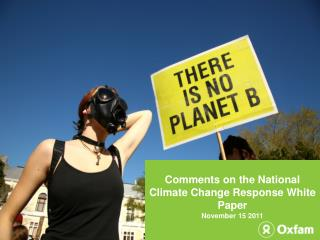 Comments on the National Climate Change Response White Paper November 15 2011