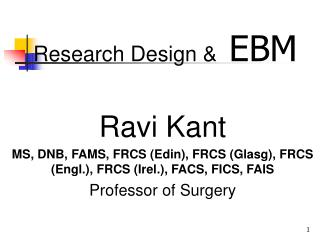 Research Design & EBM