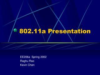 802.11a Presentation