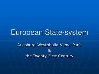 European State-system