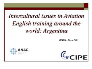 Intercultural issues in Aviation English training around the world: Argentina