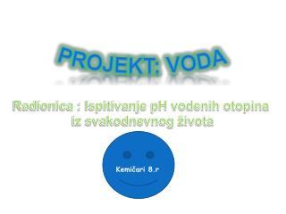 Projekt: Voda