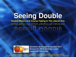 Seeing Double Double Majors and Course‐Taking In The Liberal Arts