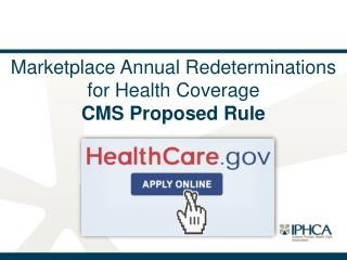 Marketplace Annual Redeterminations for Health Coverage  CMS Proposed Rule