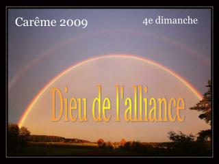 Dieu de l'alliance