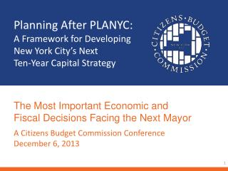 Planning After PLANYC: A Framework for Developing New York City's Next  Ten-Year Capital Strategy