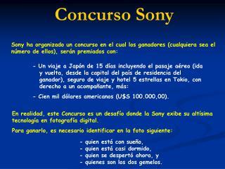 Concurso Sony