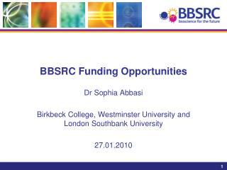 BBSRC Funding Opportunities