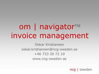 om | navigator  invoice management