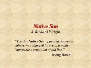 Native Son & Richard Wright