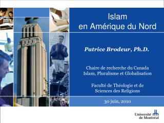 Islam  en Am rique du Nord