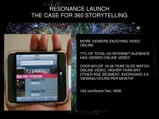RESONANCE LAUNCH THE CASE FOR 360 STORYTELLING