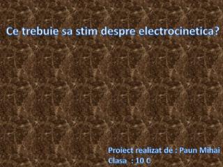 Proiect realizat  de :  Paun Mihai Clasa   : 10 C