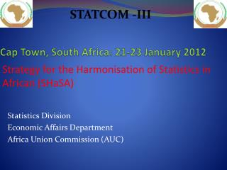 Cap Town, South Africa: 21-23 January 2012