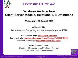 Client-Server Architecture: