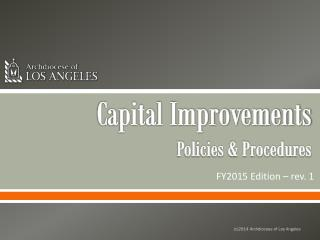 Capital Improvements Policies & Procedures
