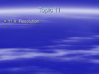Topic 11
