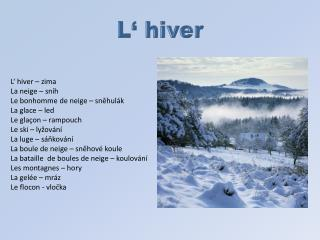 L�  hiver