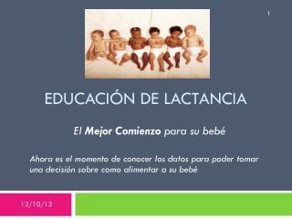 EDUCACI�N DE LACTANCIA