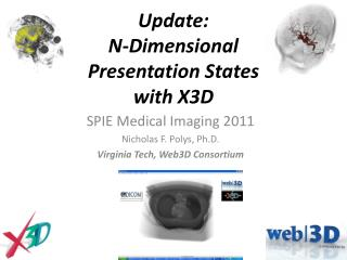 Update: N-Dimensional  Presentation States  with X3D