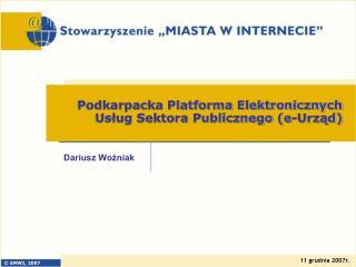 Podkarpacka Platforma Elektronicznych Usług Sektora Publicznego (e-Urząd)