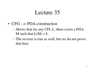 Lecture 35