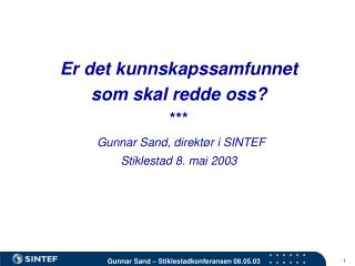 Status for Norge i 2003