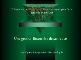 Une gestion financière désastreuse