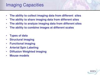 Imaging Capacities