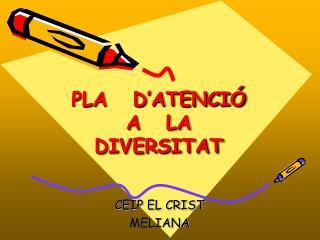PLA   D'ATENCIÓ A   LA   DIVERSITAT