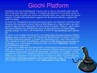 Giochi Platform