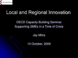 Local and Regional Innovation