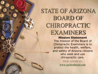 STATE OF ARIZONA BOARD OF CHIROPRACTIC EXAMINERS
