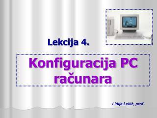 Konfiguracija PC ra čunara