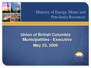 Union of British Columbia Municipalities - Executive May 25, 2006
