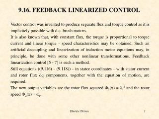 9.16. FEEDBACK LINEARIZED CONTROL