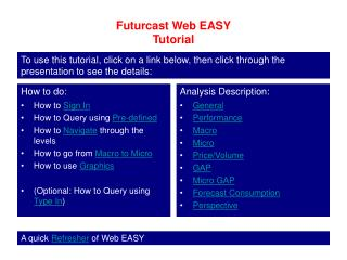 Futurcast Web EASY Tutorial