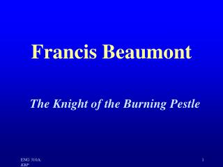 Francis Beaumont