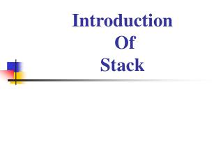 Introduction  Of Stack