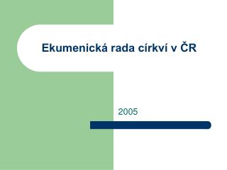 Ekumenická rada církví v ČR
