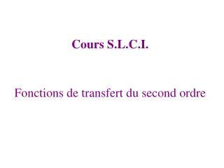 Fonctions de transfert du second ordre