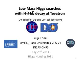Low Mass Higgs searches  with  H bb  decay at  Tevatron