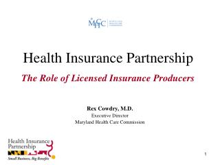 Health Insurance Partnership   The Role of Licensed Insurance Producers