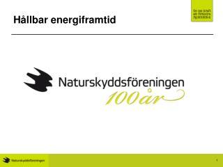 Hållbar energiframtid