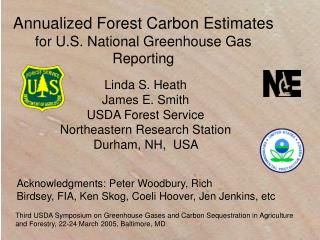 Annualized Forest Carbon Estimates  for U.S. National Greenhouse Gas Reporting