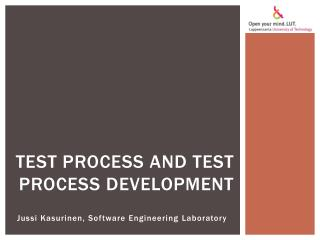 Test process and test process development