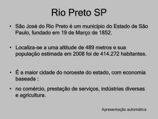 Rio Preto SP