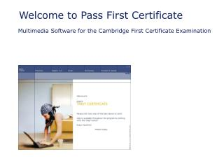Welcome to Pass First Certificate